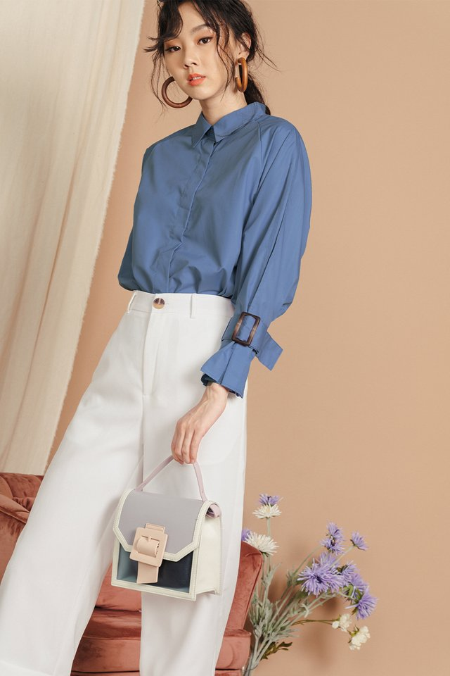 CLEMMIE BUCKLE SHIRT IN BLUE