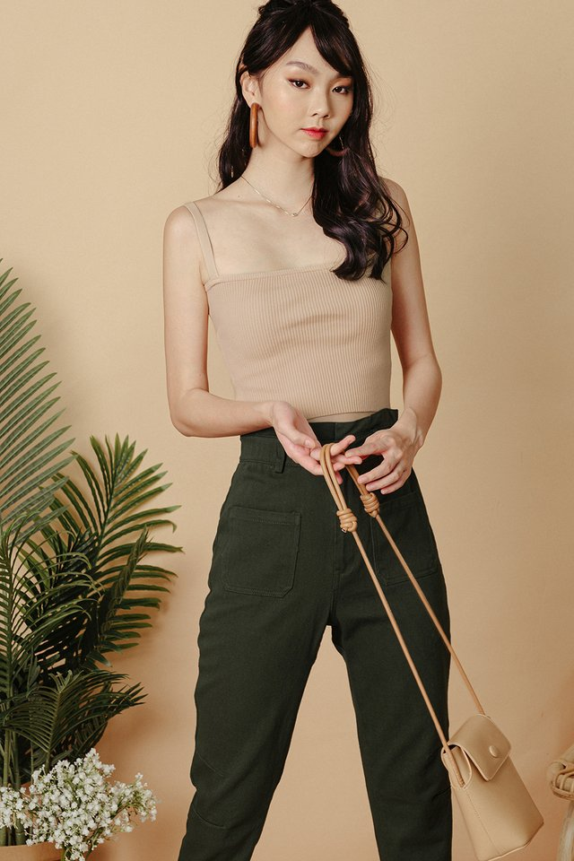 IZZY KNIT TOP IN BEIGE