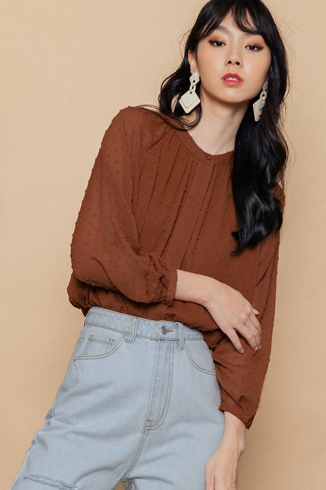 OPAL TOP IN RUST