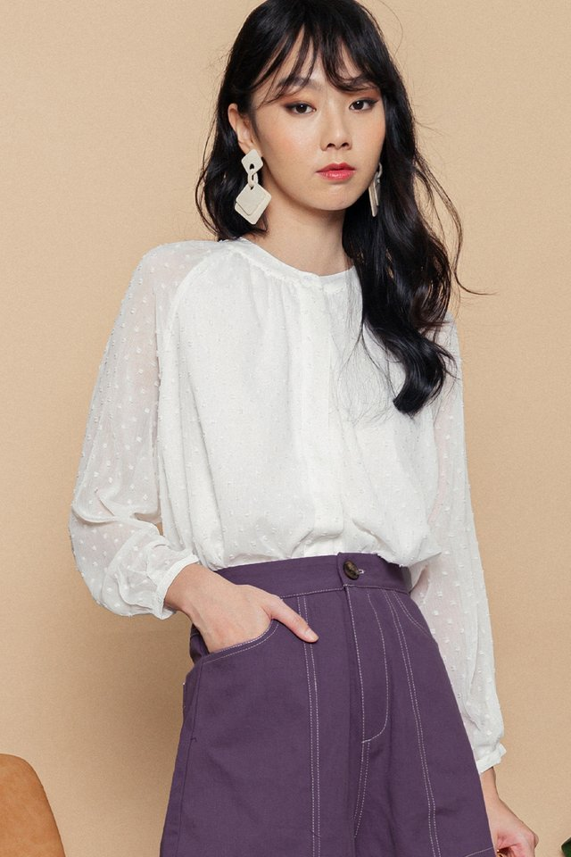 *BACKORDER* OPAL TOP IN WHITE