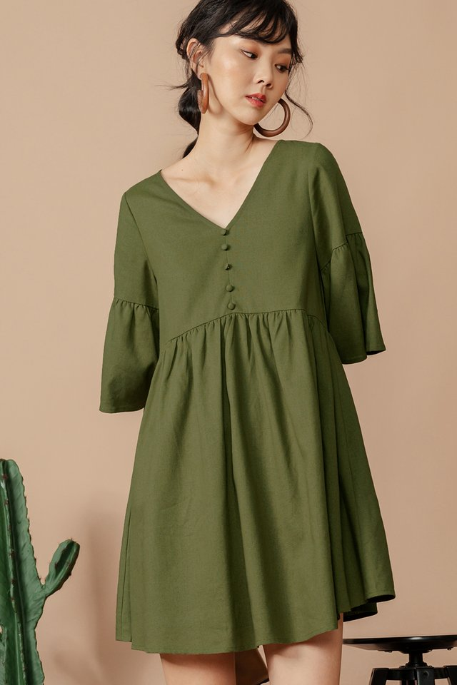 DAWN BABYDOLL DRESS IN OLIVE