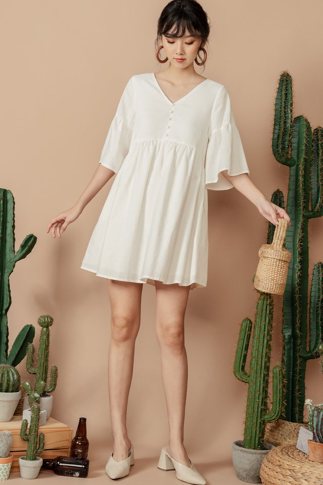 DAWN BABYDOLL DRESS IN WHITE