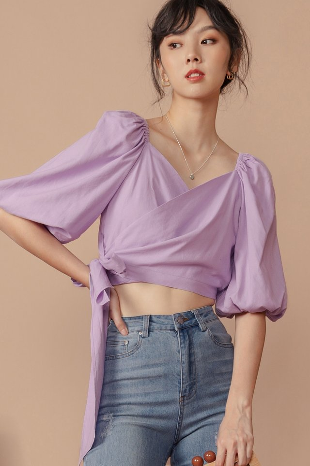 JENN TIE TOP IN LAVENDER