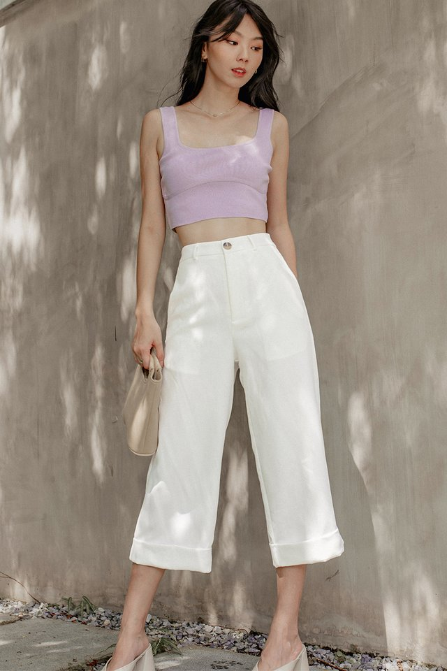 JODI CROP TOP IN LAVENDER