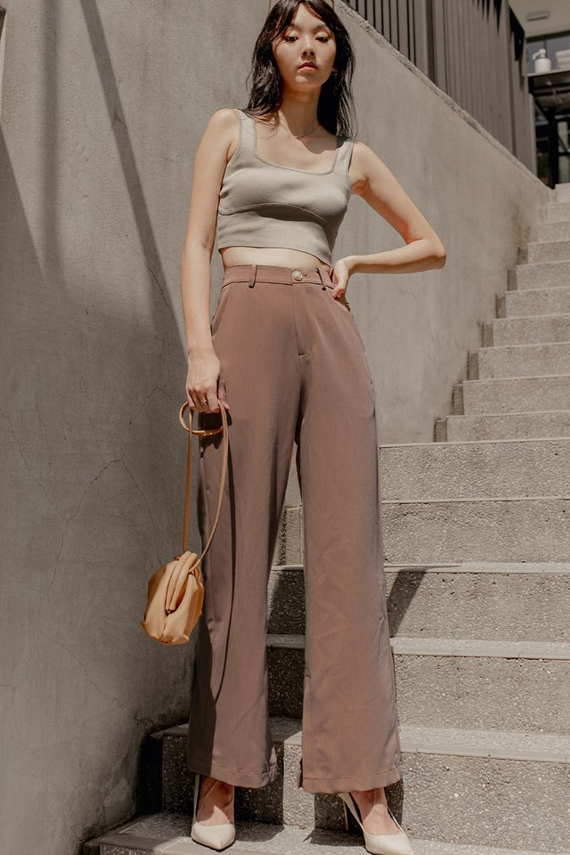 JODI CROP TOP IN TAUPE