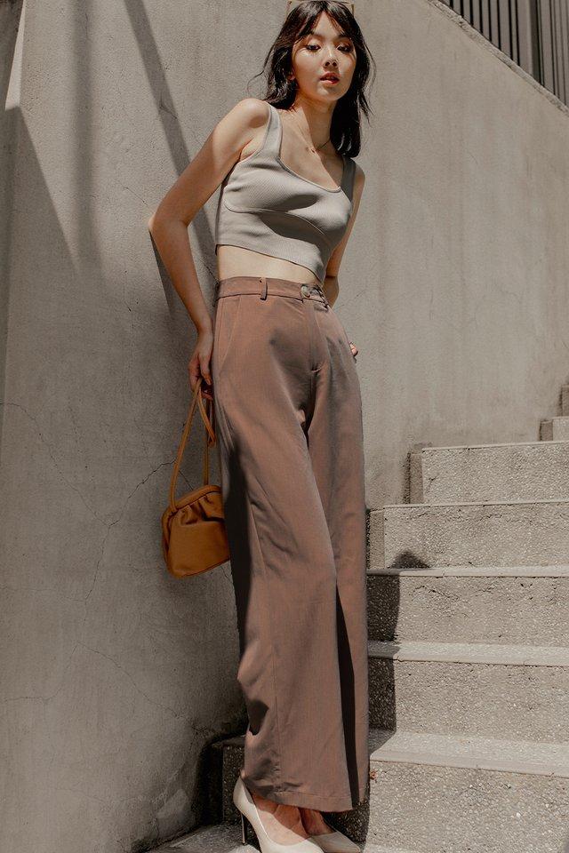 LAYLA SLIT PANTS IN MOCHA