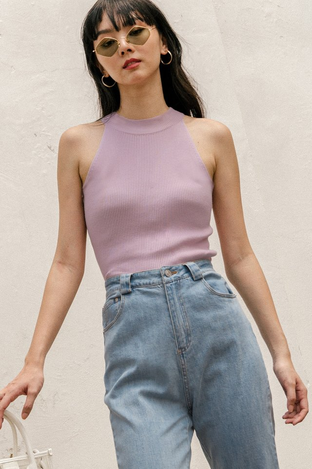 FYNN KNIT TOP IN LILAC PINK
