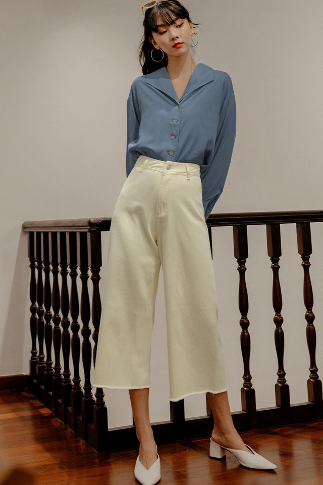 KYLE DENIM CULOTTES IN ECRU