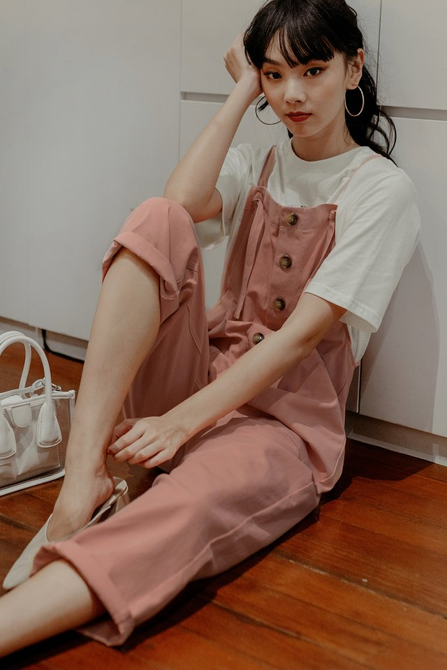 LOFT OVERALLS JUMPSUIT IN PINK