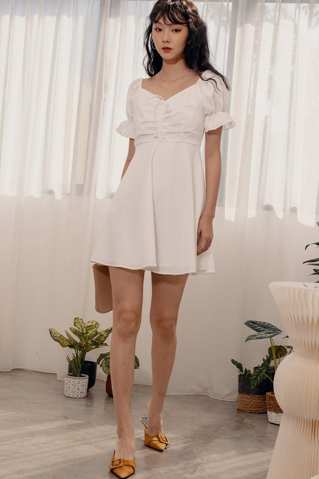 RIDLEY DRESS IN WHITE
