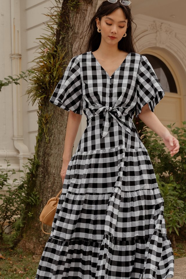 CALLEE GINGHAM TOP IN MONO