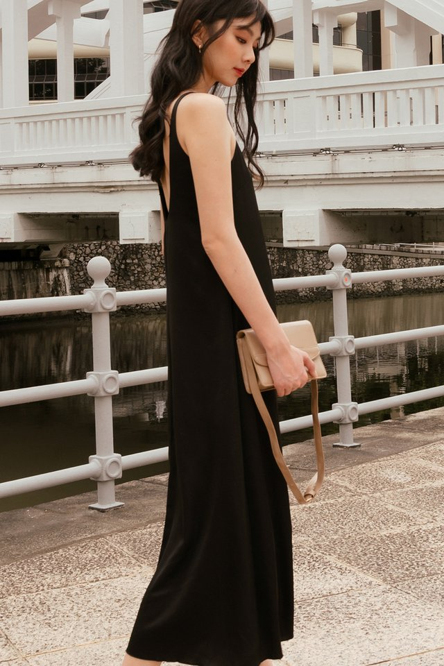 *BACKORDER* KORA SATIN MAXI IN BLACK
