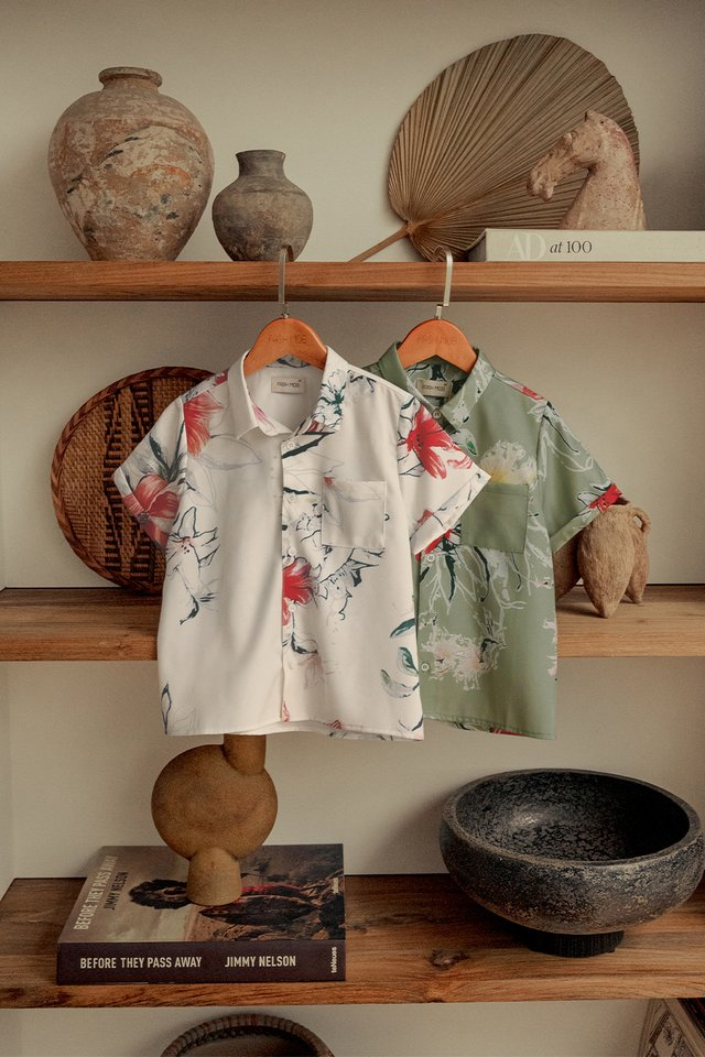 *KIDS* AUDEL SHIRT IN CREAM