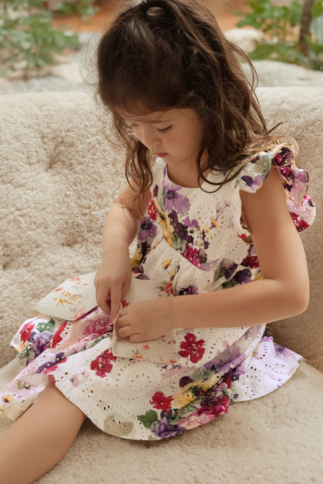 *KIDS* LANGFORD EYELET DRESS