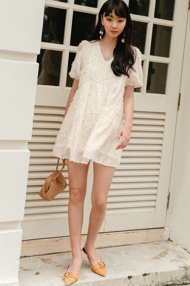 *BACKORDER* SANDOR BABYDOLL PLAYSUIT DRESS IN CREAM
