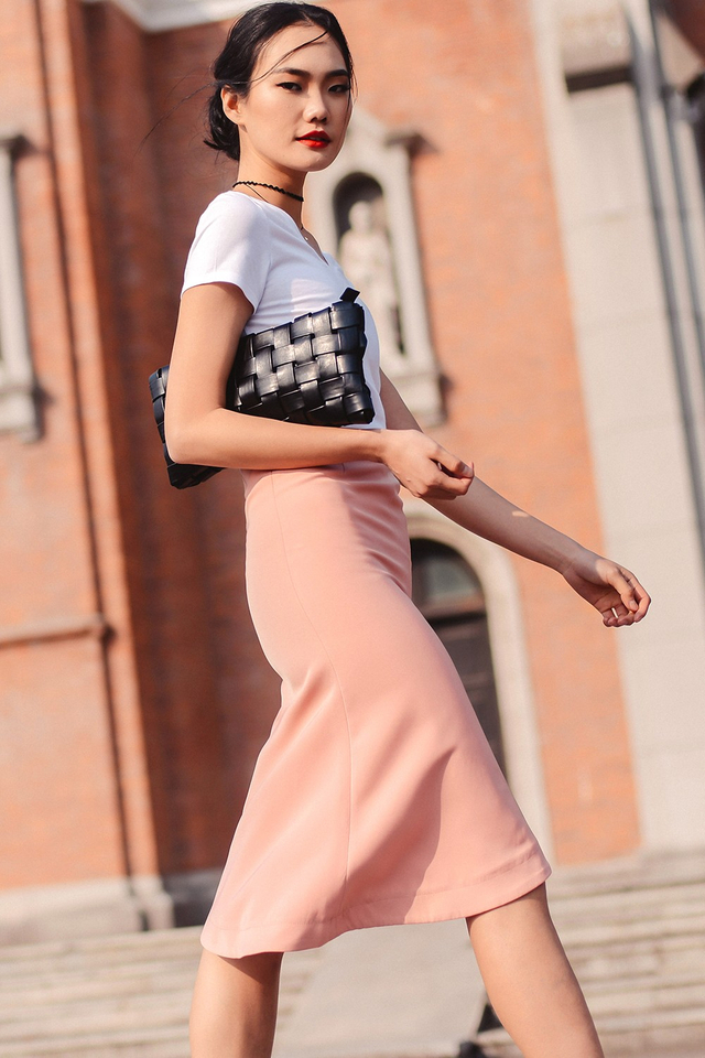 *BRIDGE* MILTON SKIRT IN PINK