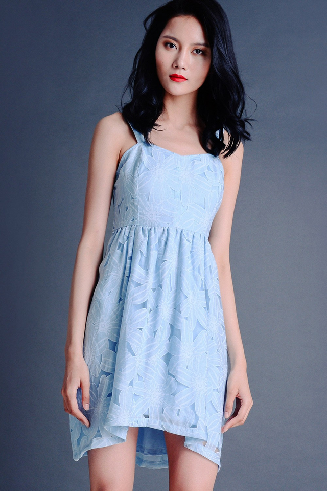 WILLOW TULIP DRESS IN POWDER BLUE