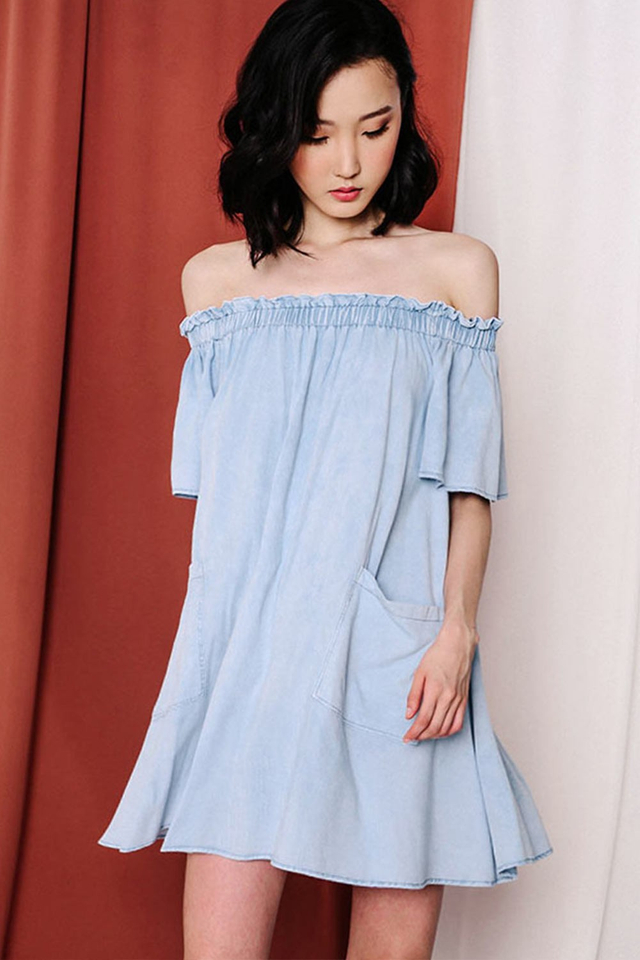 TIANA DENIM DRESS