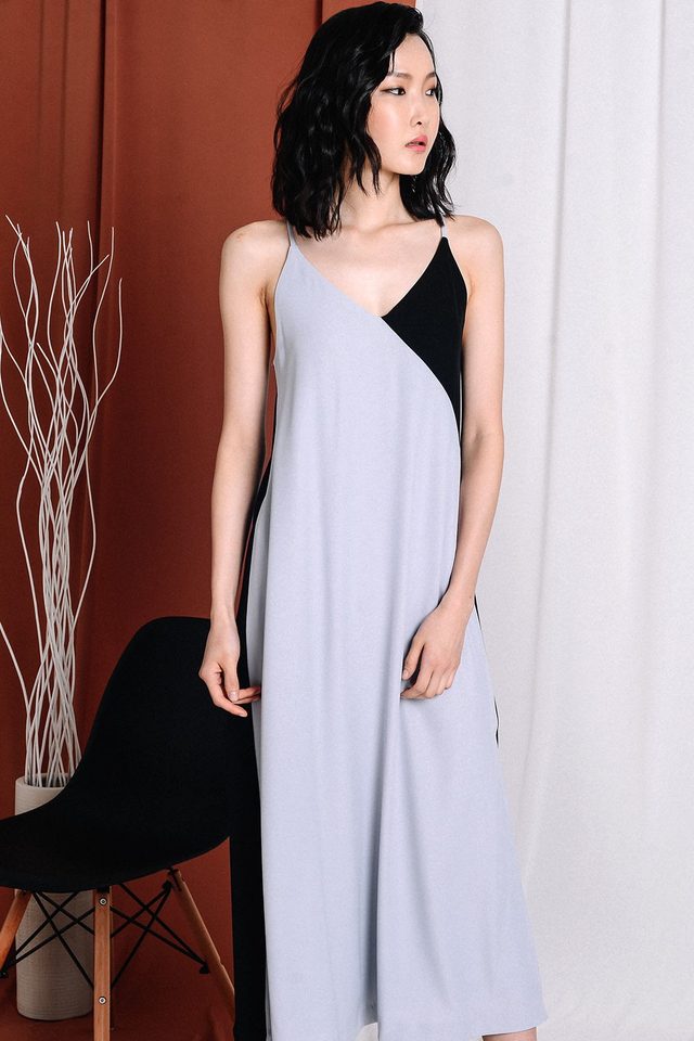 MALONE MAXI IN GREY BLACK