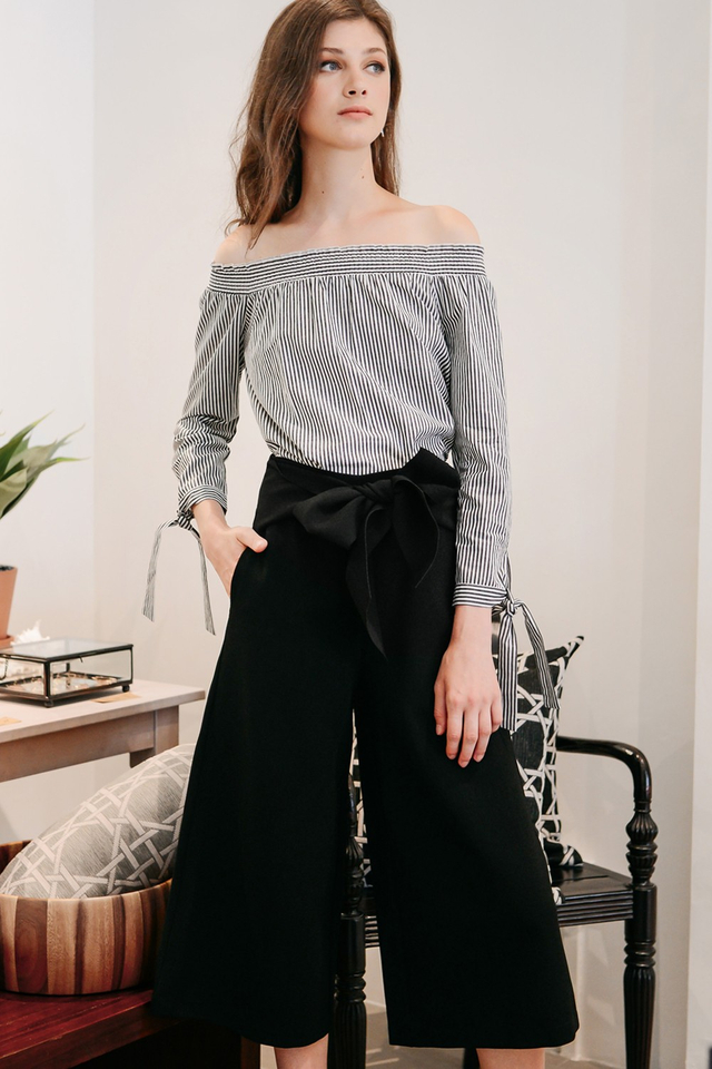 MASSIMO SASHED CULOTTES IN BLACK