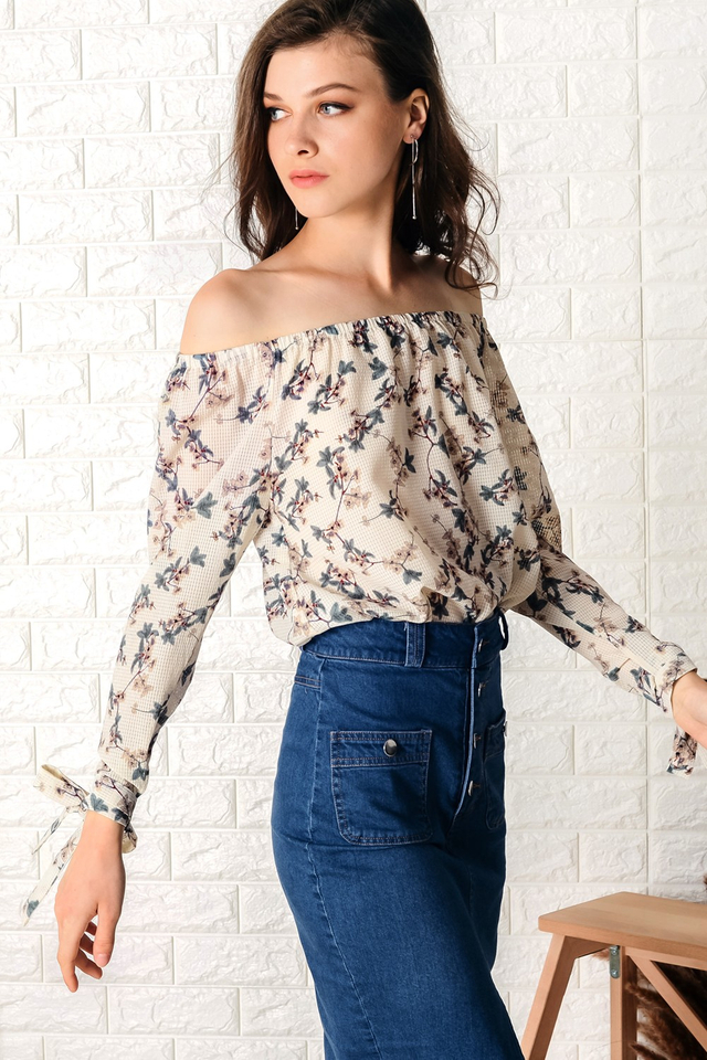 SERAPHINE TOP IN CREAM