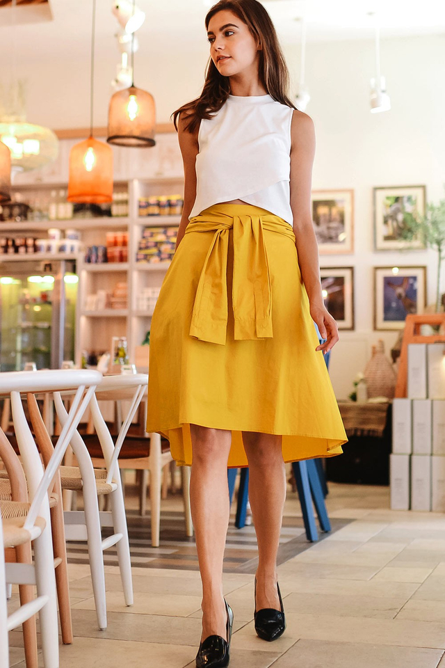 CASSIAR SKIRT IN MUSTARD