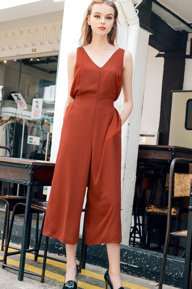 MONTANA JUMPSUIT IN SAFFRON