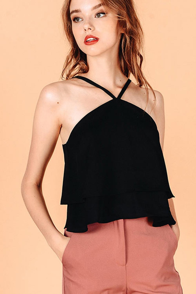 THEODORA TOP IN BLACK