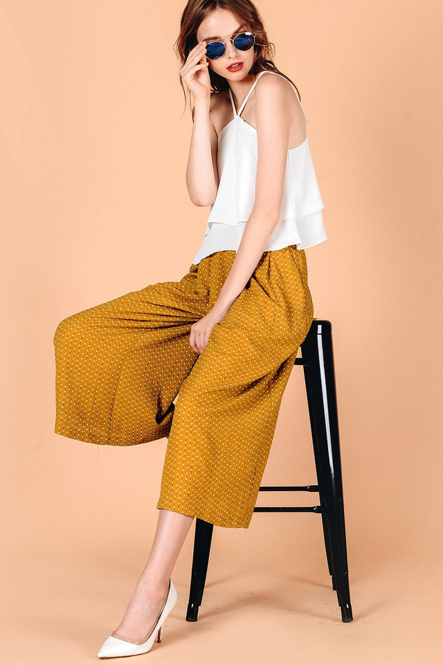 MADISON PANTS IN MUSTARD