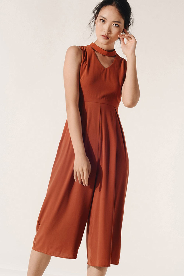 RIVE JUMPSUIT IN BURNT ORANGE
