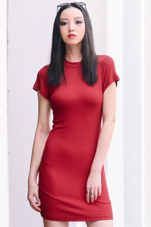 *BRIDGE* Dakota Dress in Red
