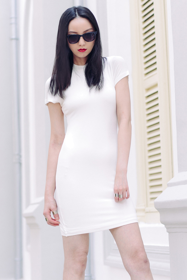 *BRIDGE* Dakota Dress in White