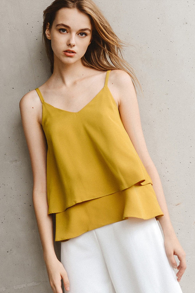 STIRLING TOP IN MUSTARD