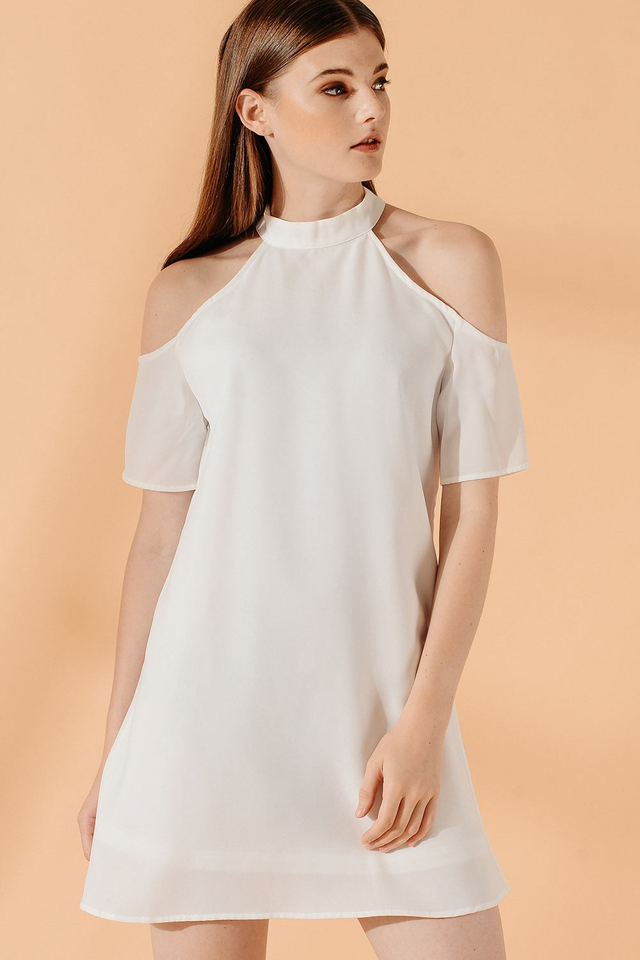 PAXTON DRESS IN WHITE