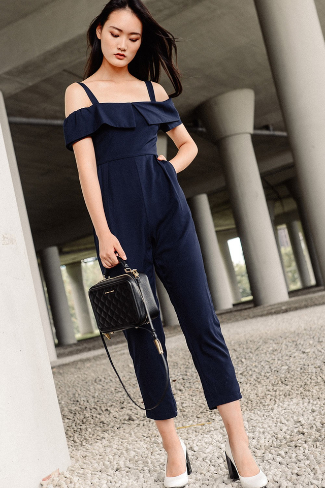 BRITTANY JUMPSUIT IN NAVY
