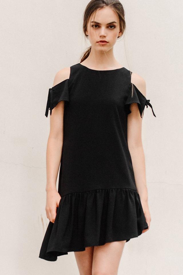 VERITY DRESS IN BLACK