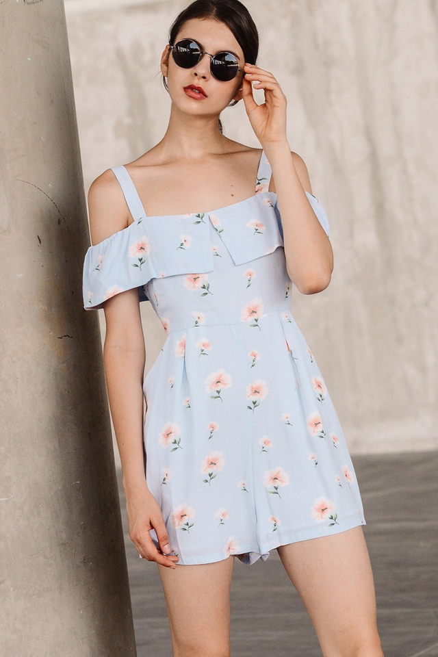 PALMA PLAYSUIT IN PERIWINKLE BLUE