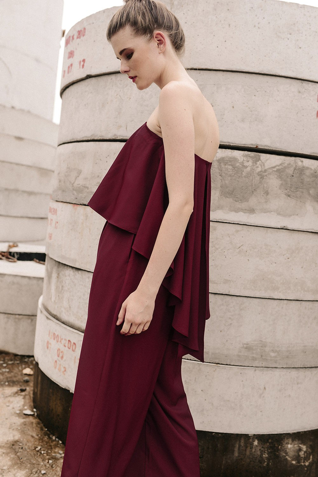 THIERRY JUMPSUIT IN WINE