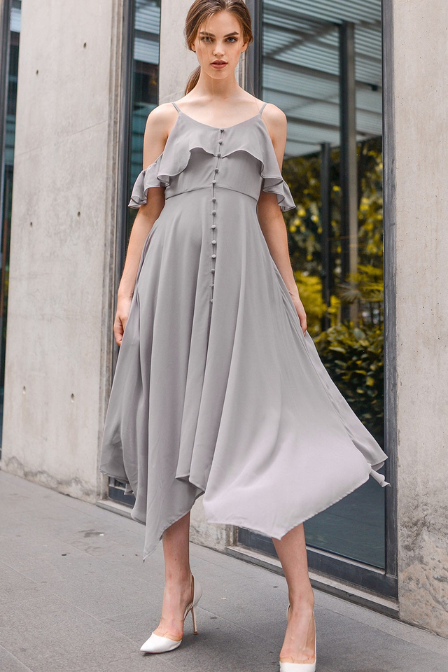 SCARLETT MAXI IN TAUPE GREY