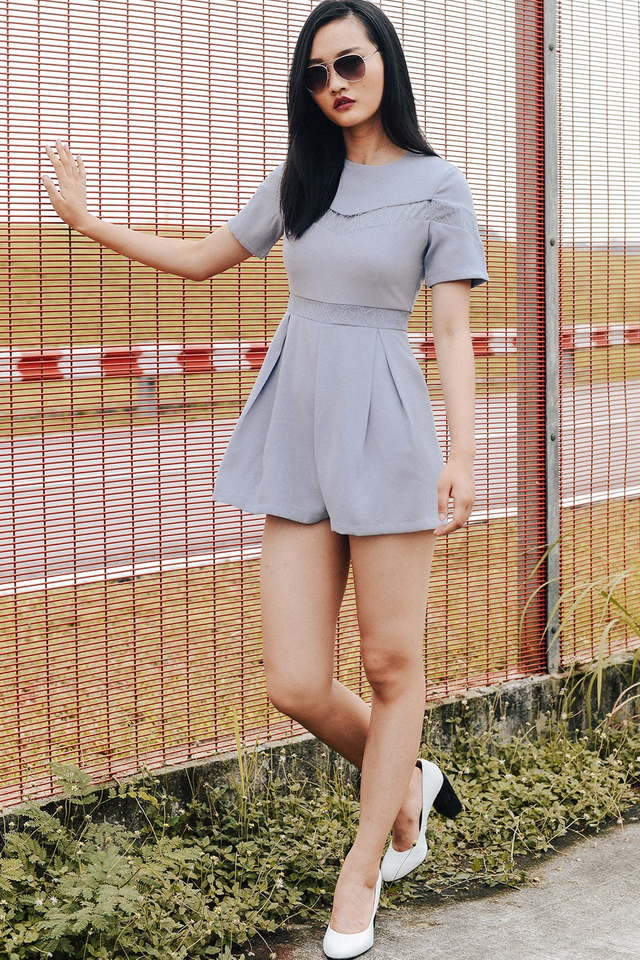 IRVIN PLAYSUIT IN DUSK PERIWINKLE