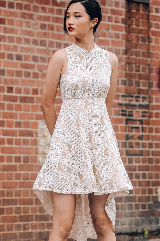 ATELIER LACE DRESS IN CREAM