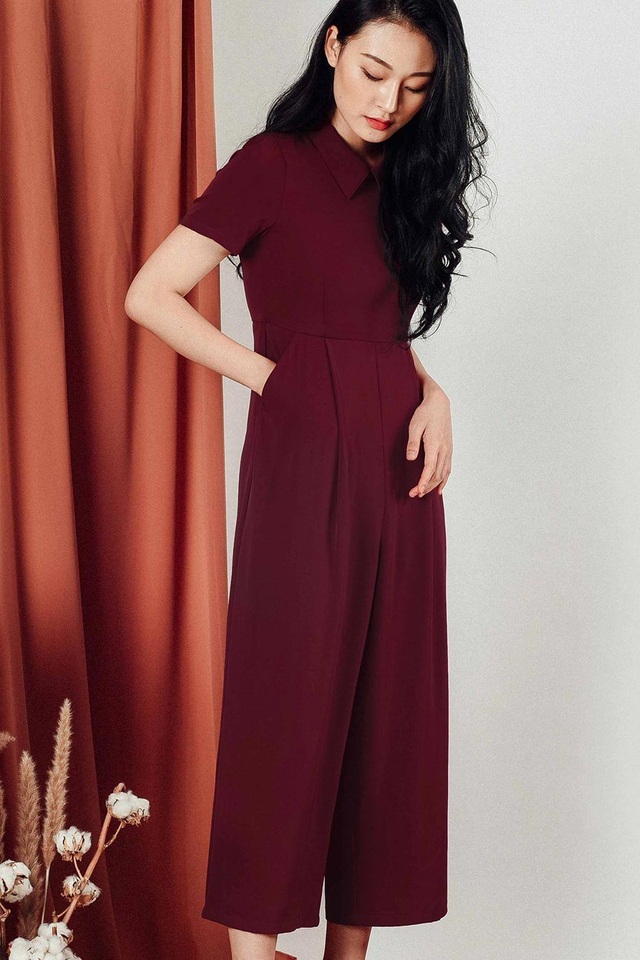 GULLIVER JUMPSUIT IN WINE