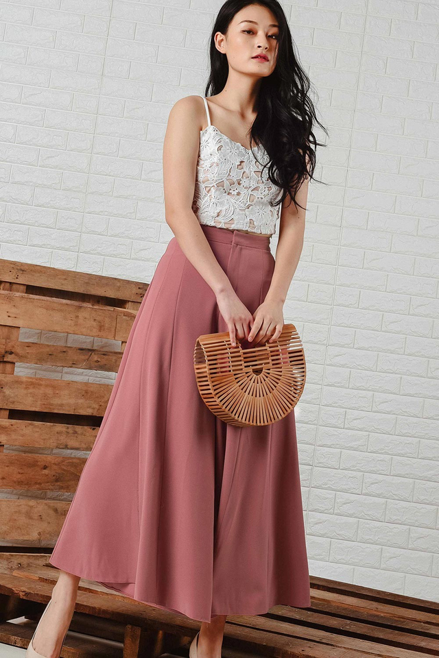 *RESTOCKED* MIA WIDE LEG PANTS IN ROSE