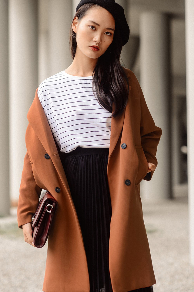 *RESTOCKED* ADORA COAT IN MAPLE BROWN