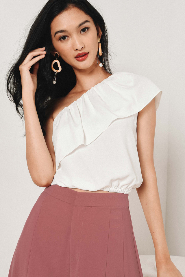 SADIE TOGA TOP IN WHITE