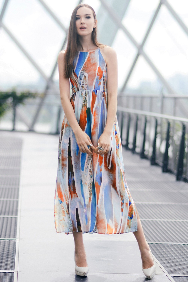 *BRIDGE* Mirage Maxi in Blue Orange