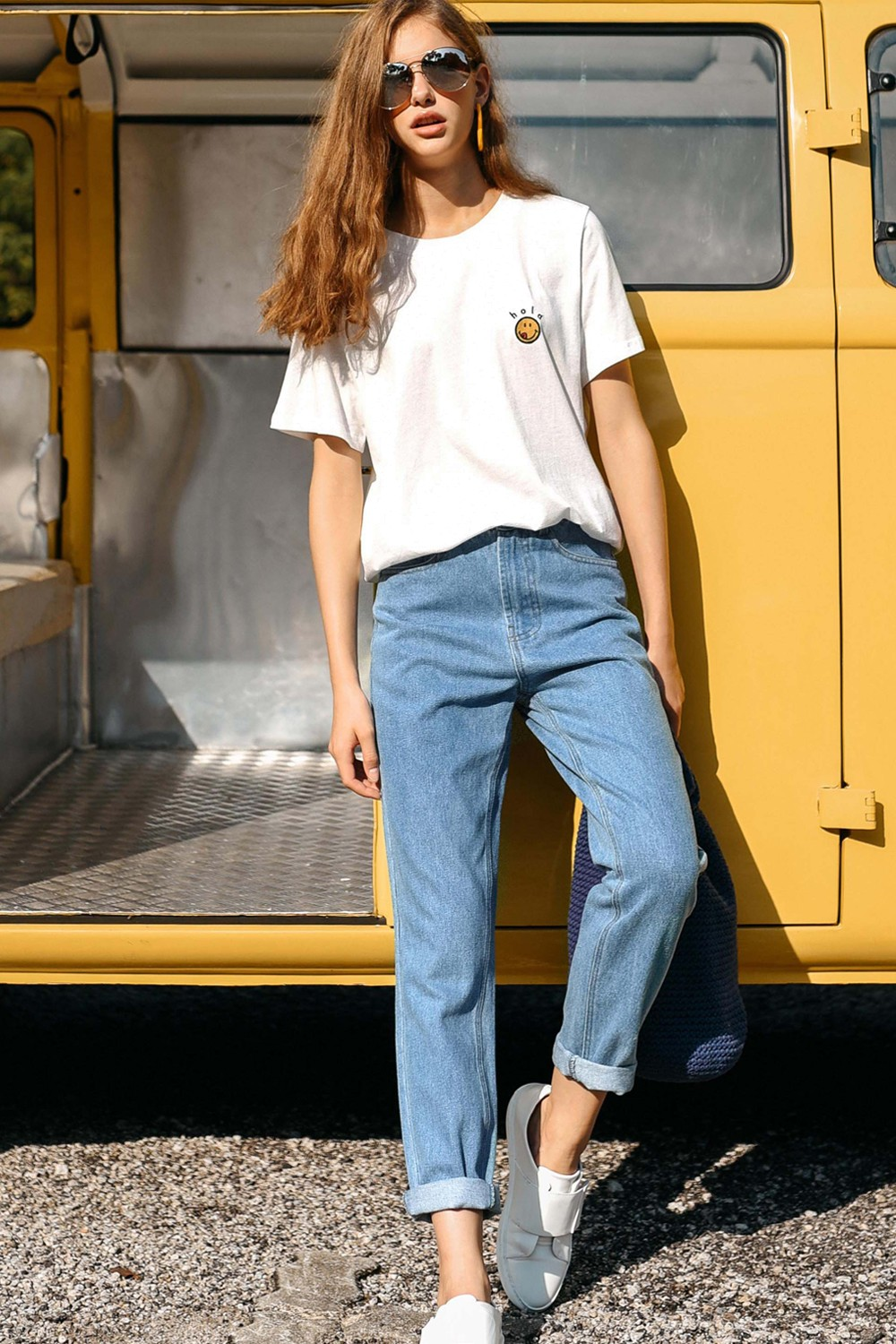 united states 100% top quality top-rated genuine *RESTOCKED* ELLIE BOYFRIEND JEANS IN LIGHT WASH
