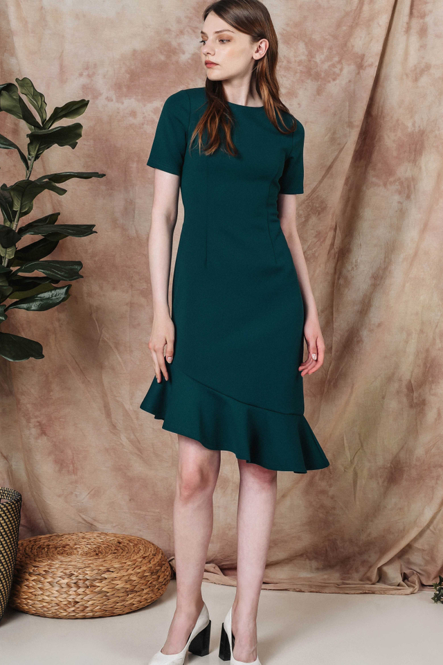 IXORA DRESS IN TEAL