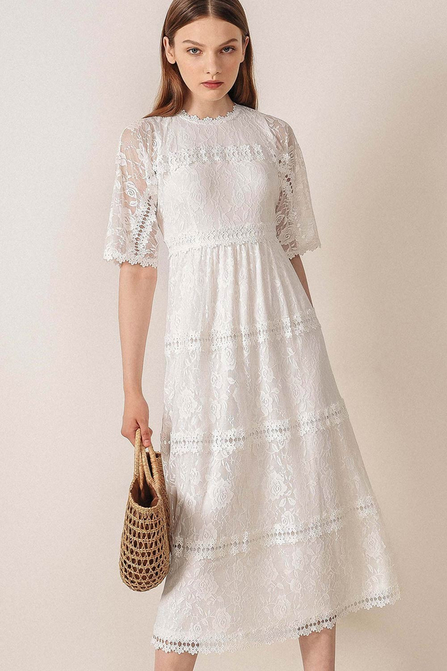 ROSDALE LACE MAXI IN WHITE