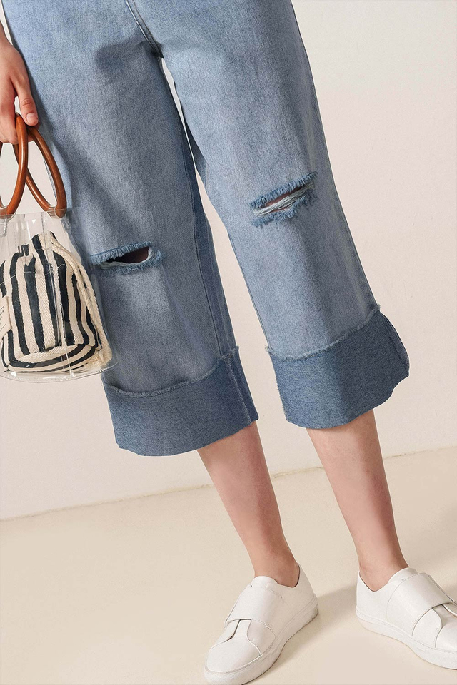 BARRY DENIM CULOTTES